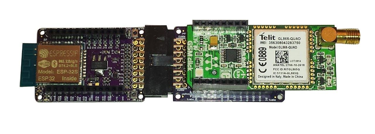 ESP32 with GSM, as a Cellular Radio Hot Spot