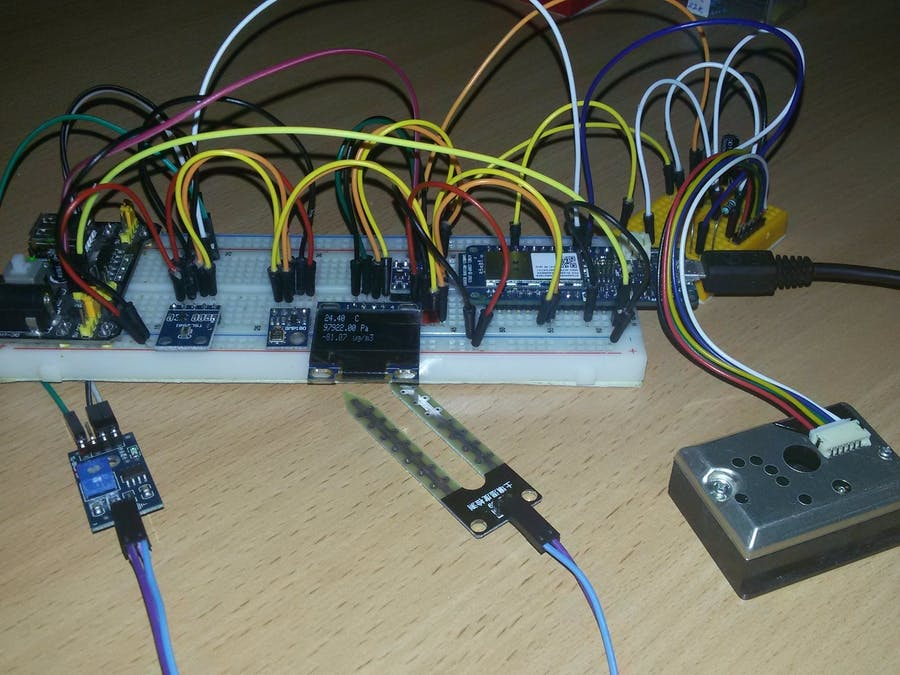 Arduino MKR1000 Weather Station - Hackster.io