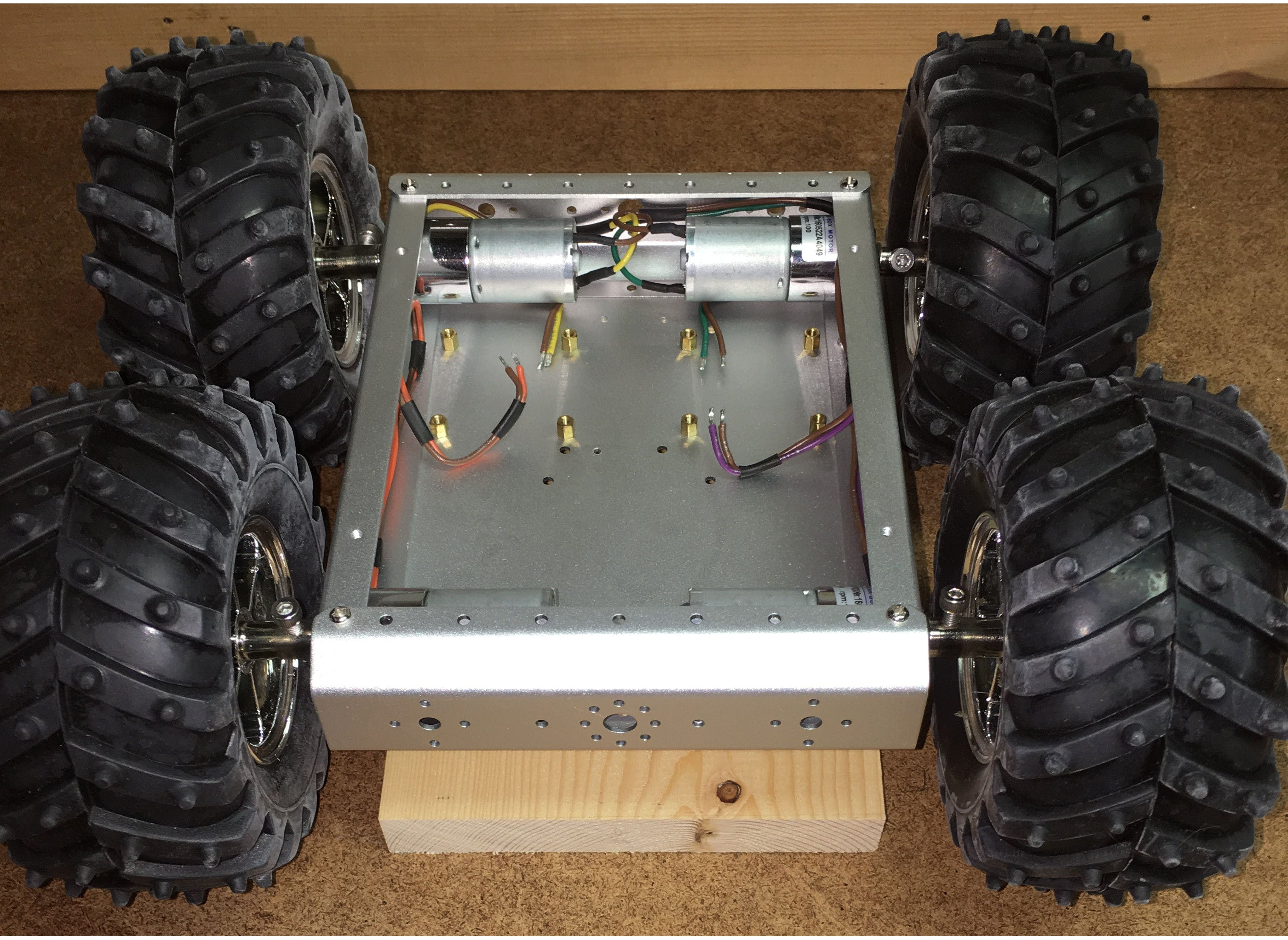 Chassis with Motors installed