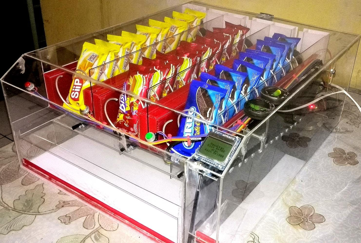 Snacks Vending Machine Powered By Arduino