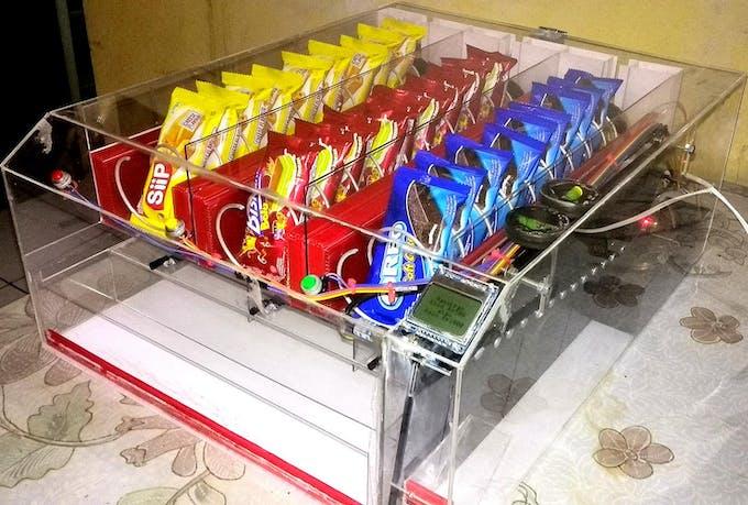 Finished diy homemade snacks vending machine