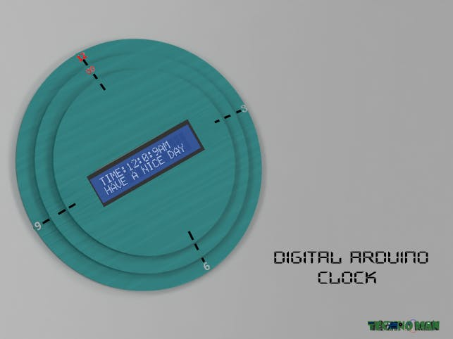 Simple Arduino Digital Clock Without RTC