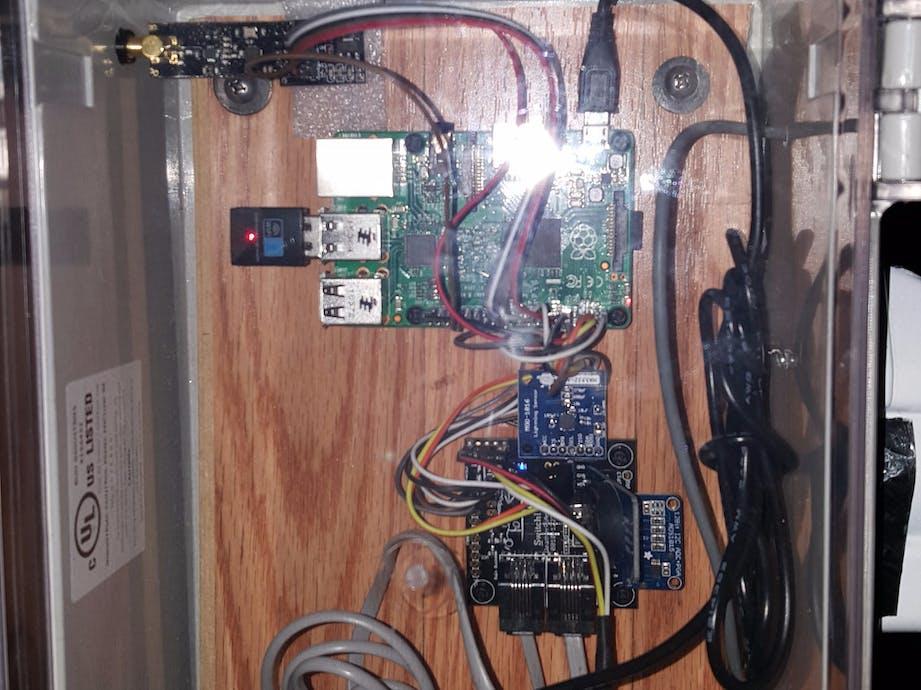 Raspberry Pi/WeatherRack - NodeJS Weather Data Station - ster.io on