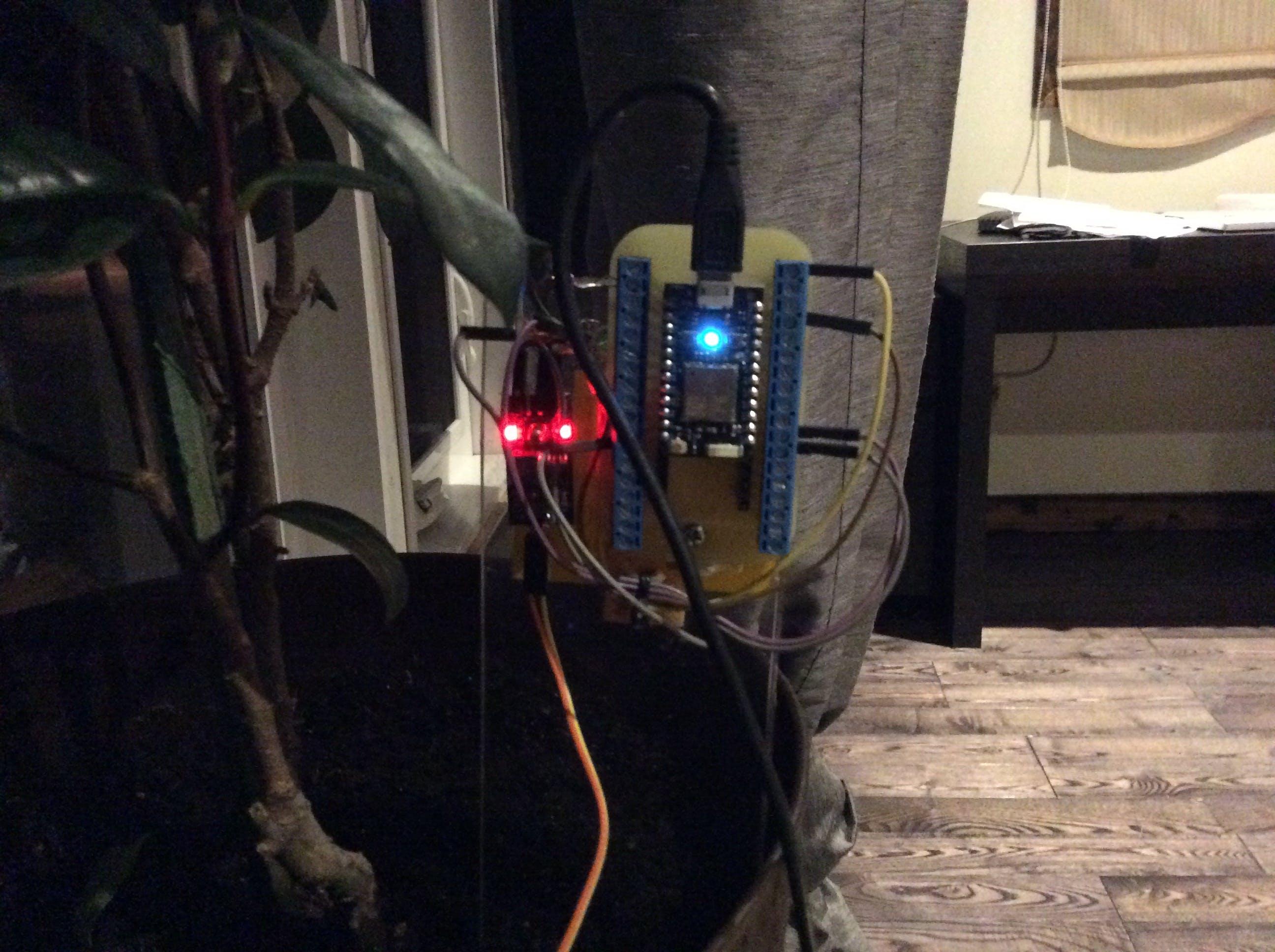 Plant sensor backboard