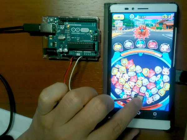 Playing Smartphone Games with a Relay Touch Board