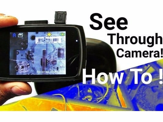 Make See Through Infrared Camera For Cheap