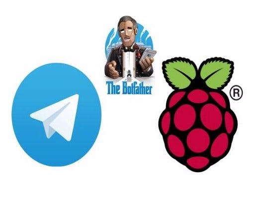 Raspberry Pi GPIOs controlled using a Telegram Bot
