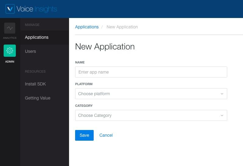 Application Setup