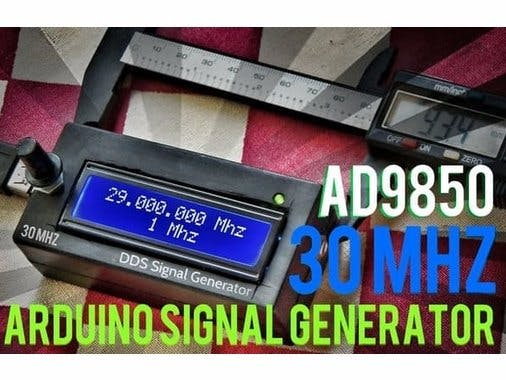 30MHZ DDS Signal Generator on Arduino - Hackster io