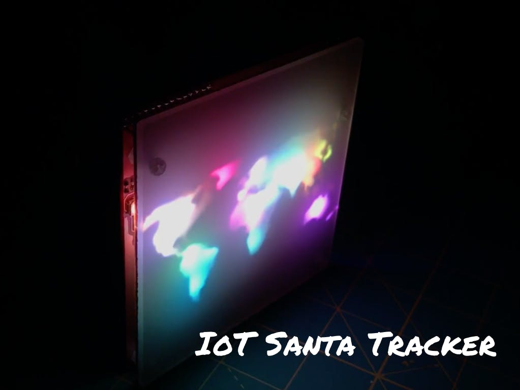 IoT Santa Tracker on Colorful World Map
