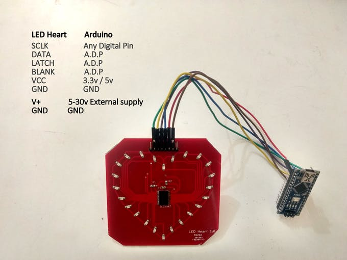 LED board pinout