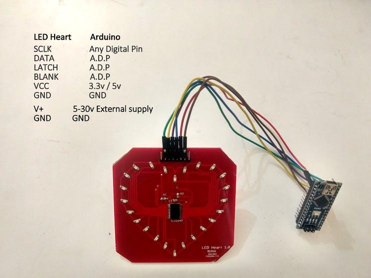 LED board pinout
