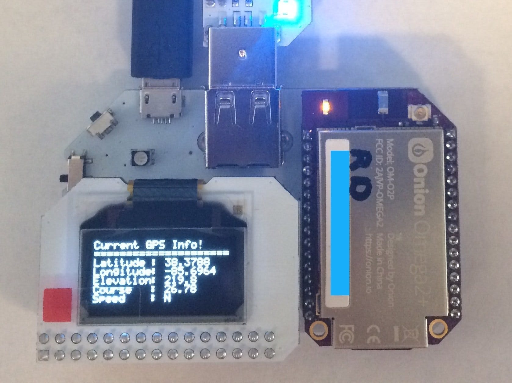 GPS Info to OLED