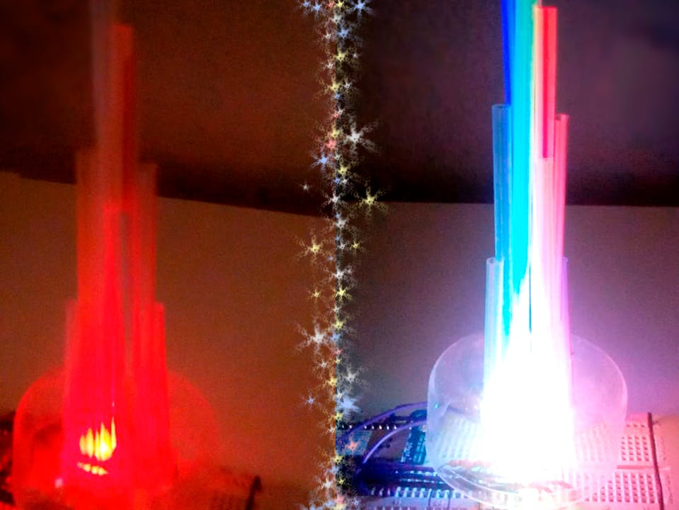 LED Straw XMAS Tree