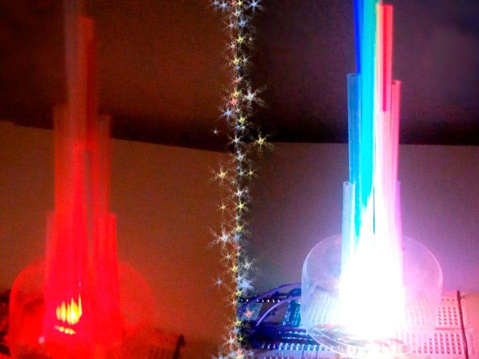 LED Straw XMAS Tree