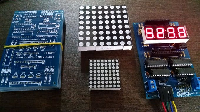 Manuftured PCB - LED Displays - Assembled Board