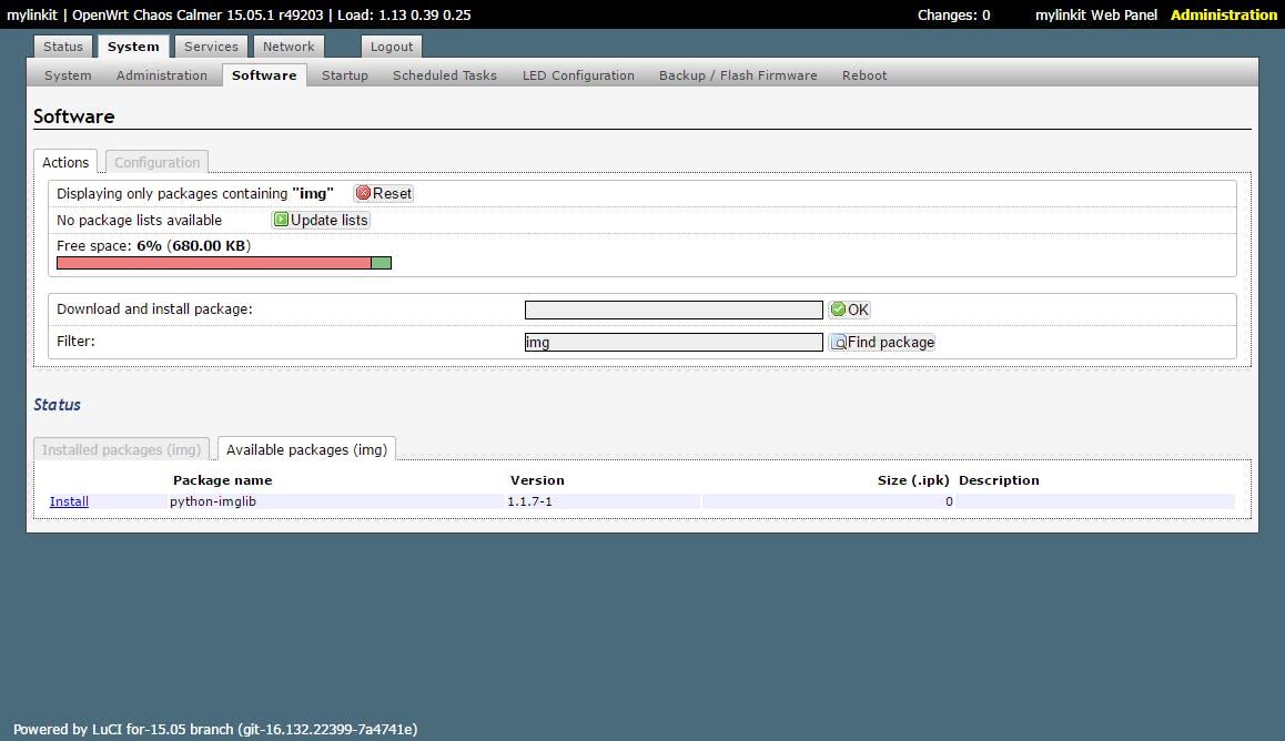 Install python-imglib in OpenWRT
