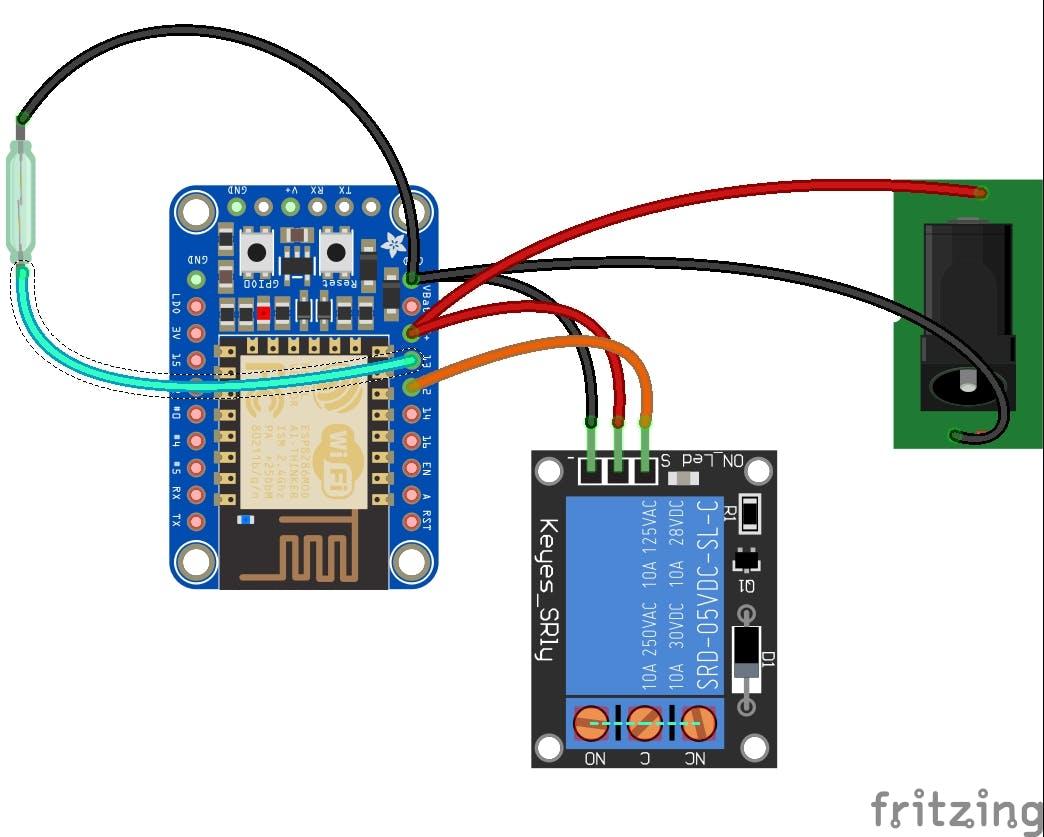 Esp8266 Garage Door Monitor Electrical Wiring