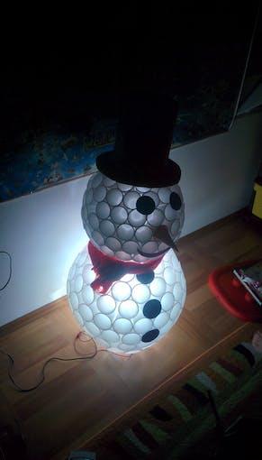 Snowman as a night light