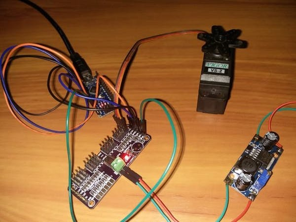 Servo motor using arduino pca9685 16 chanel module for Arduino nano motor control