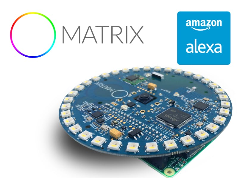 MATRIX Creator running Alexa demo in Hands-free mode