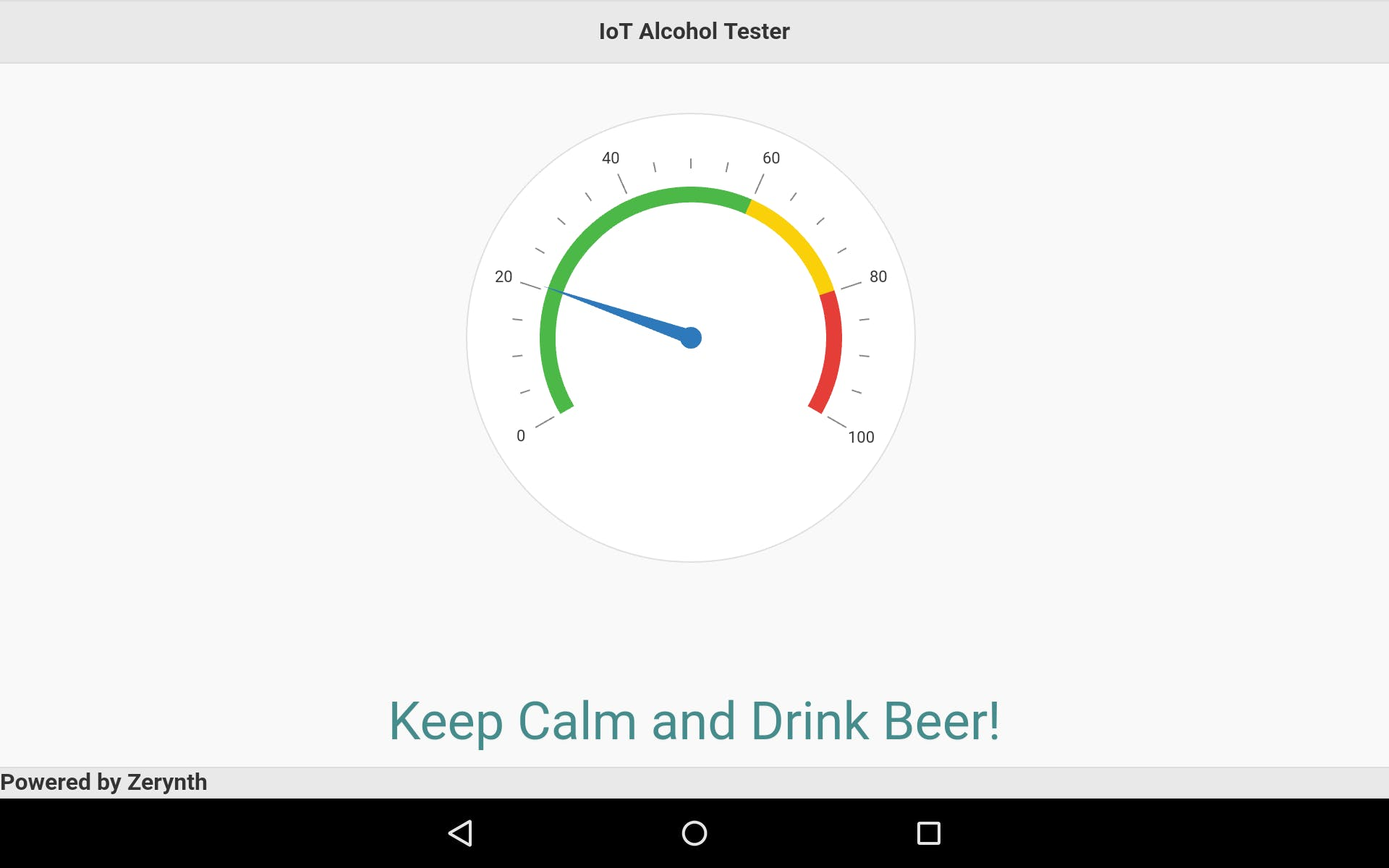 Zerynth App - Keep Calm and Drink Beer!