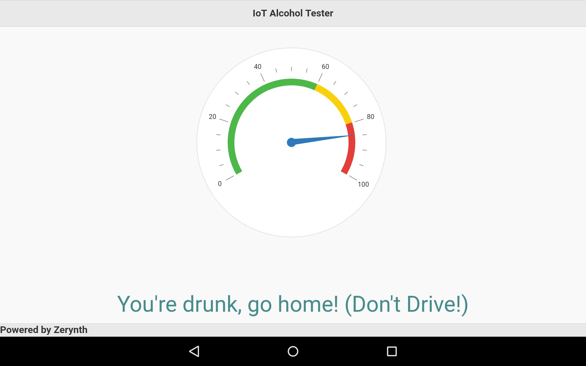 Zerynth App - You are drunk, go home! (Don't Drive!)