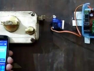Control Door Lock Remotely Using Smartphone