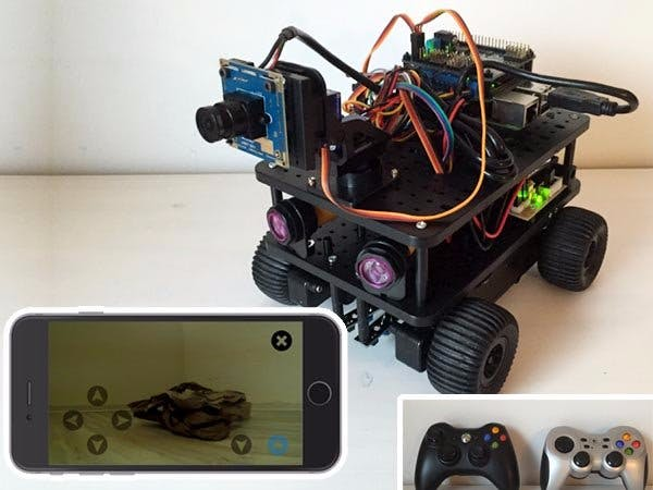 Video-controlled Robot with Windows IoT Core Raspberry 3