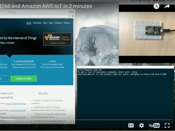 Internet Button On ESP8266 And Amazon AWS IoT In 2 Minutes