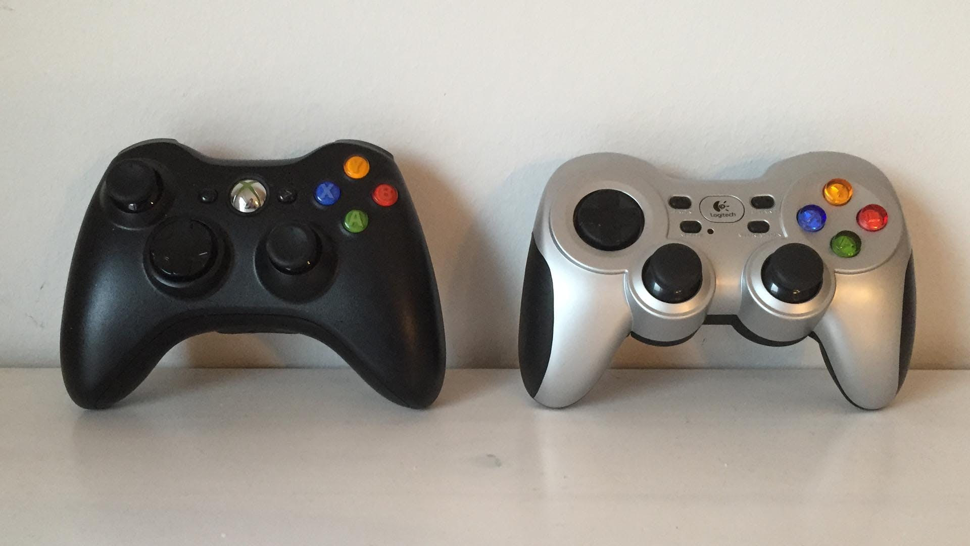 Xbox 360 Controller and Logitech Gamepad F710