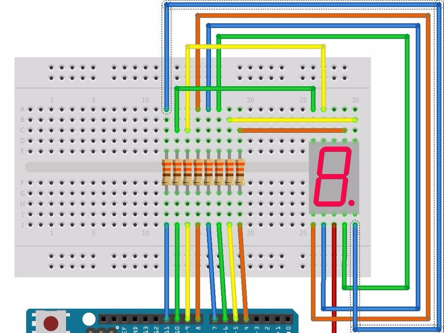 7 Segment Led Displays 101 How To Make One Work Hackster