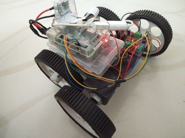 Mobile Phone Accelerometer Controlled Robot Using RPi