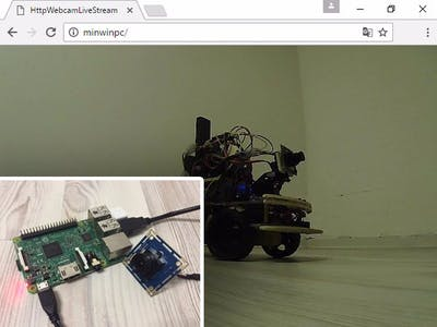 Browser Webcam Live Stream with Windows IoT Core Raspberry 3