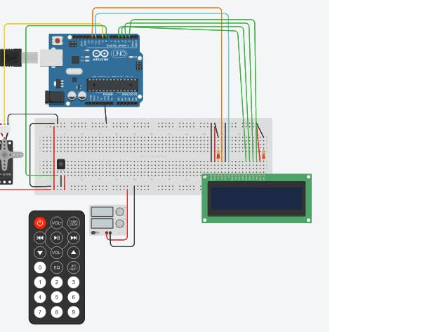 Servo Control with TV Remote Control