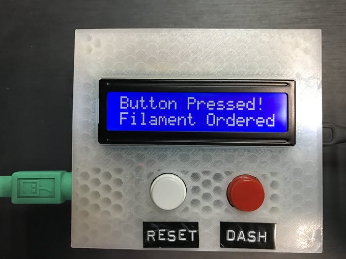 Step 5: Dash button pressed, manual DRS request sent
