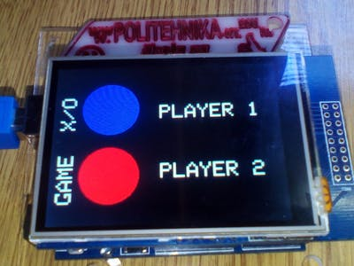 Arduino Game X/O on the TFT Display