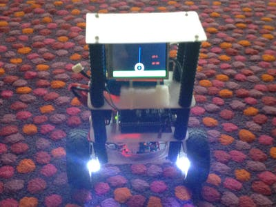 """Balancing Robot with Animation in a 2.8"""" TFT"""