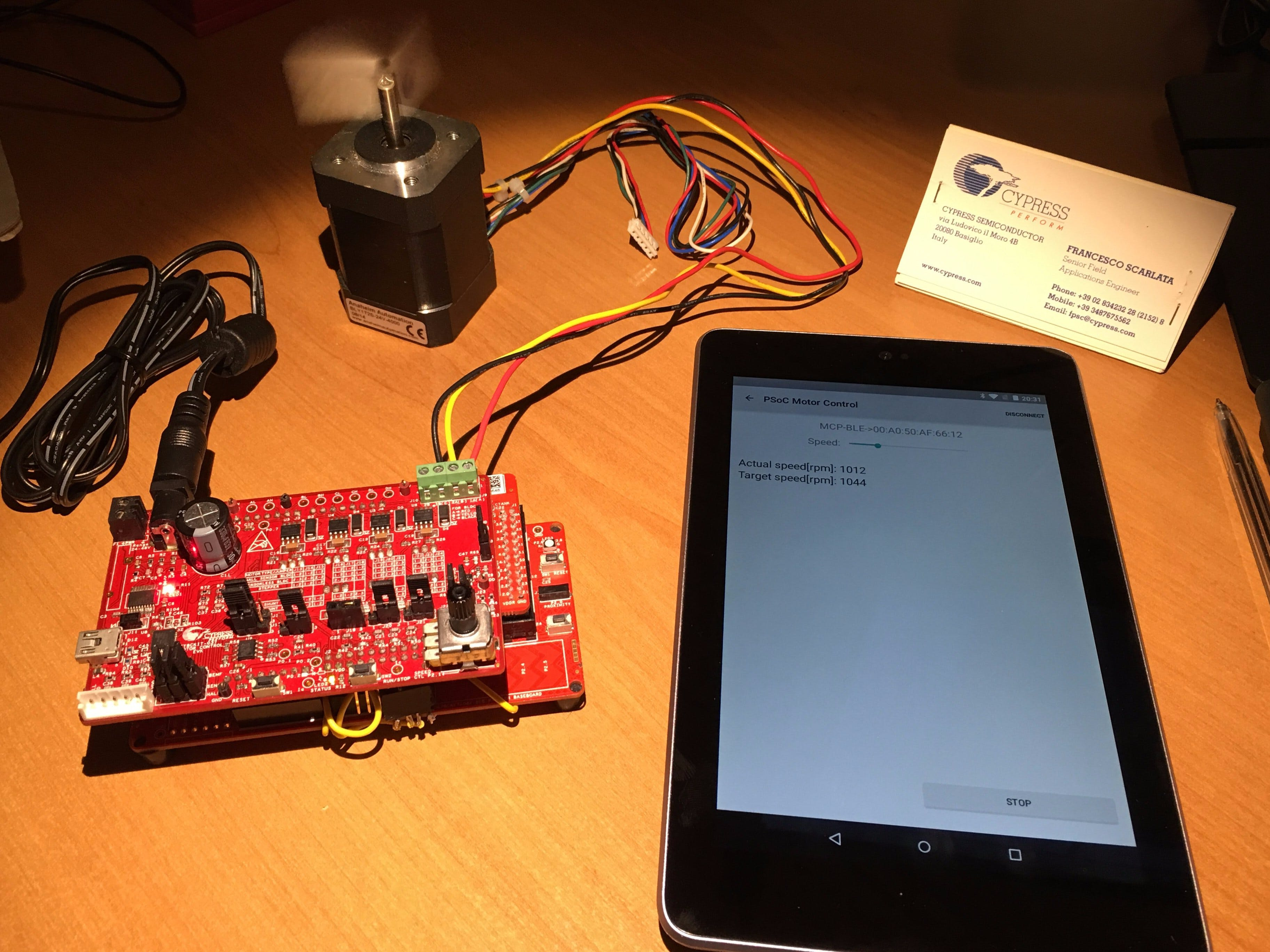 BLE Sensorless FOC Motor Control with Cypress PSoC4