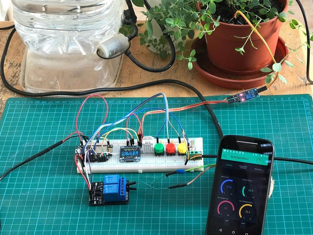 Automatic Gardening System with NodeMCU and Blynk