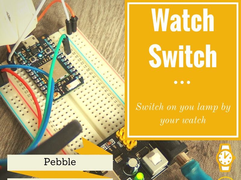 Pebble + Photon = IoT Watch Switch
