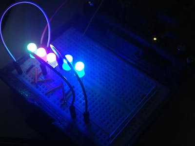 Multicolor Knight Rider with RGB PL9823 LED + Arduino UNO