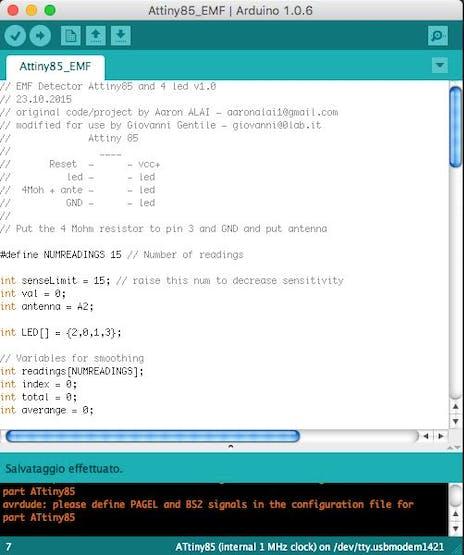 ATtiny85 EMF Detector - Hackster io