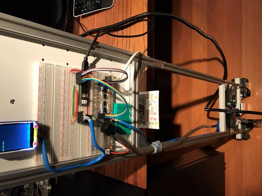Falling-Up Robot with Stepper Motors