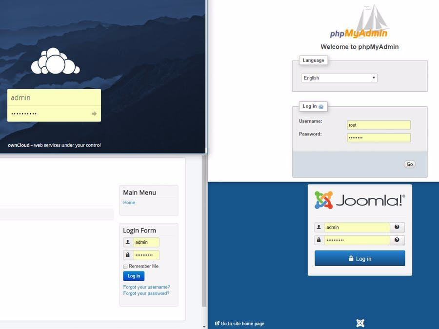 Raspbian Stretch with Joomla, Owncloud