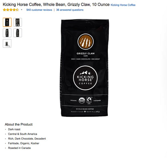 Selecting the correct coffee bean.