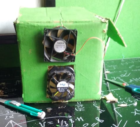 Box and fans are recycled.