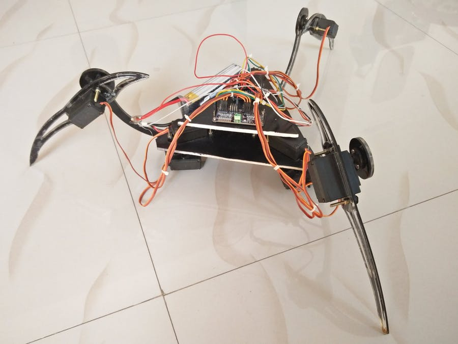 Build A Tripod Using Arduino and Servo Motors