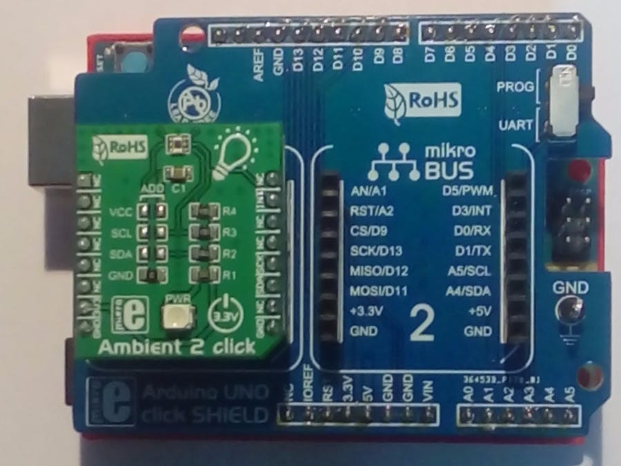 Ambient 2 Click Board on Arduino101