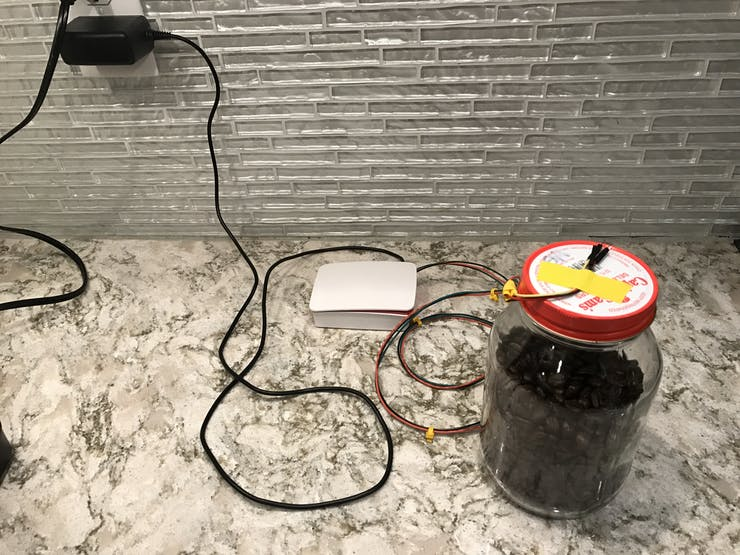 Original design for the Coffee Bean monitoring system with wires